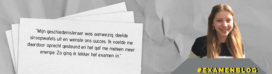 TKMST | Stroopwafels bij het begin van het examen