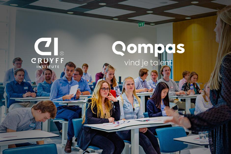 Johan Cruyff Institute en Qompas werken samen aan talentontwikkeling
