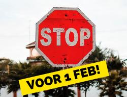 Stoppen met je studie voor 1 februari